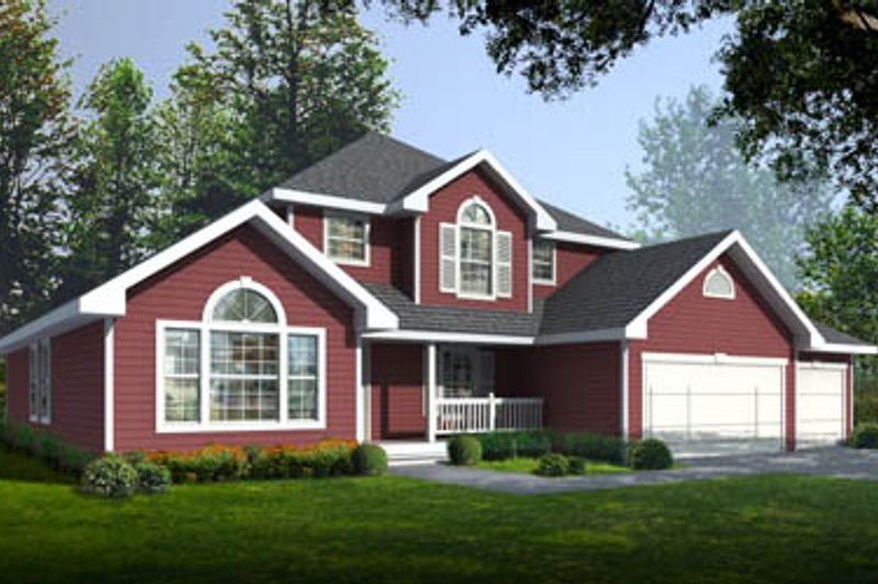 Traditional Exterior - Front Elevation Plan #93-213 - Houseplans.com