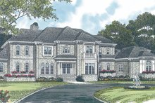 Home Plan - European Exterior - Front Elevation Plan #453-52