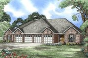 European Style House Plan - 3 Beds 2 Baths 1379 Sq/Ft Plan #17-1080 Exterior - Front Elevation