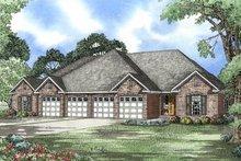 House Plan Design - European Exterior - Front Elevation Plan #17-1080