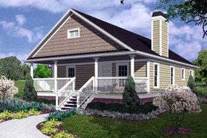 Cottage Exterior - Front Elevation Plan #30-196