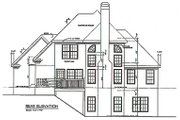 Traditional Style House Plan - 3 Beds 2.5 Baths 1516 Sq/Ft Plan #129-114 Exterior - Rear Elevation