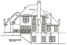 Home Plan - Traditional Exterior - Rear Elevation Plan #129-114