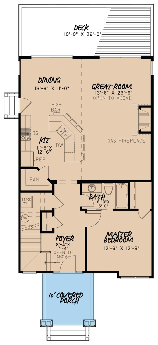 Craftsman Floor Plan - Main Floor Plan Plan #923-81