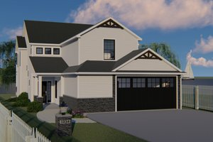 Craftsman Exterior - Front Elevation Plan #1064-95
