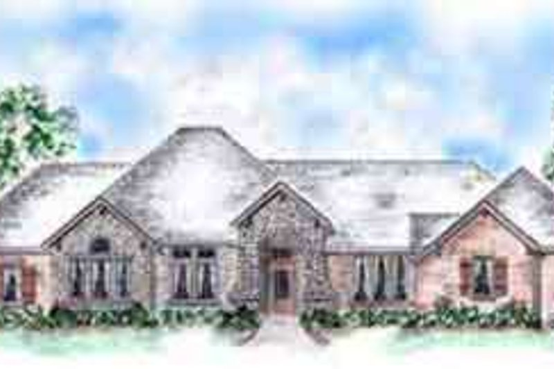 European Exterior - Front Elevation Plan #410-263