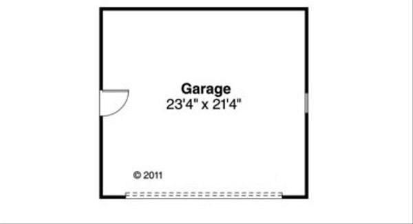 Craftsman Floor Plan - Other Floor Plan #124-844