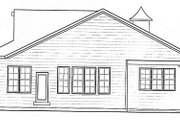 Bungalow Style House Plan - 2 Beds 2 Baths 1671 Sq/Ft Plan #20-1385 Exterior - Rear Elevation