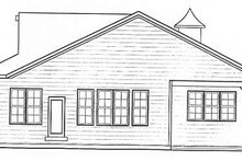 Bungalow Exterior - Rear Elevation Plan #20-1385