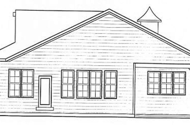 Bungalow Exterior - Rear Elevation Plan #20-1385 - Houseplans.com