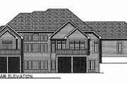 European Style House Plan - 4 Beds 3.5 Baths 2323 Sq/Ft Plan #70-370 Exterior - Rear Elevation