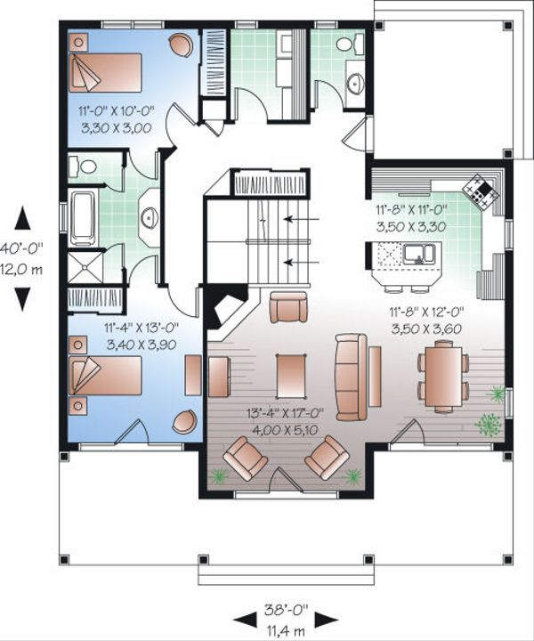 Traditional Floor Plan - Main Floor Plan Plan #23-826