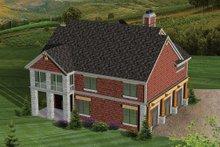 Dream House Plan - Bungalow Exterior - Rear Elevation Plan #70-1058