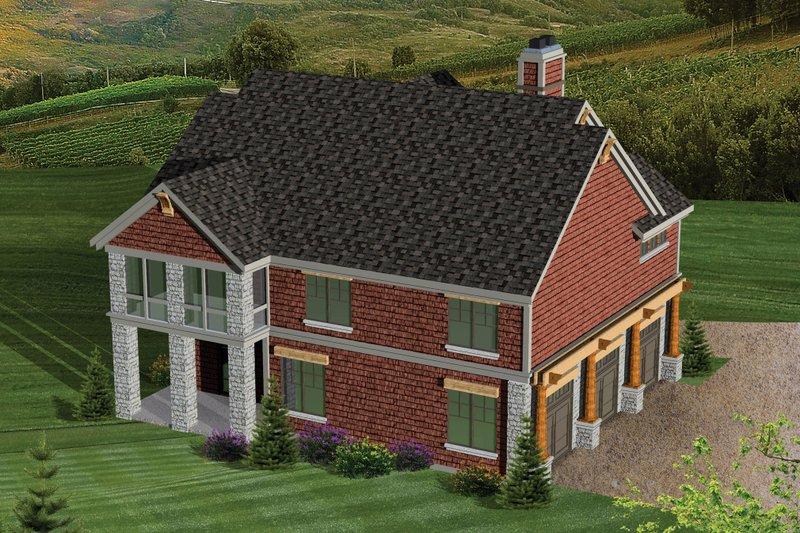 Bungalow Exterior - Rear Elevation Plan #70-1058 - Houseplans.com