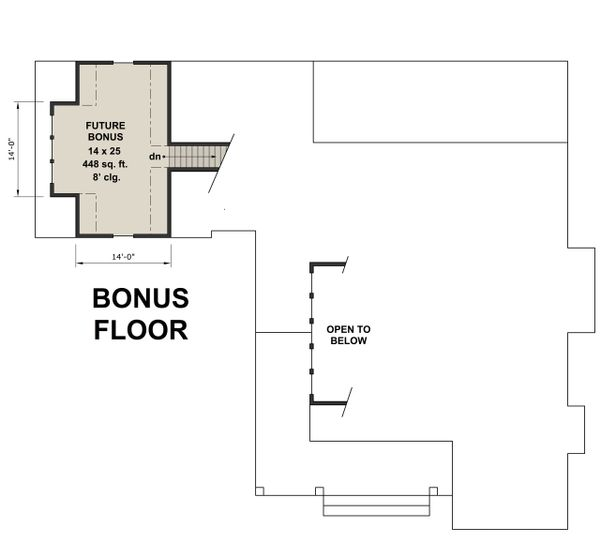 Farmhouse Floor Plan - Upper Floor Plan #51-1133