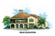 Mediterranean Style House Plan - 3 Beds 3.5 Baths 3576 Sq/Ft Plan #429-36 Exterior - Rear Elevation