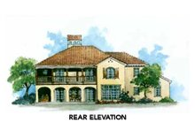 Mediterranean Exterior - Rear Elevation Plan #429-36
