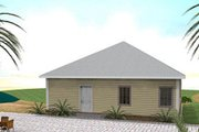 Southern Style House Plan - 3 Beds 2 Baths 1587 Sq/Ft Plan #44-151 Exterior - Rear Elevation