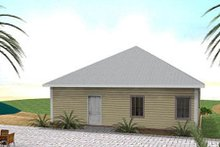 Southern Exterior - Rear Elevation Plan #44-151