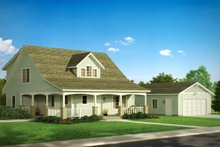 Architectural House Design - Craftsman Exterior - Front Elevation Plan #124-803