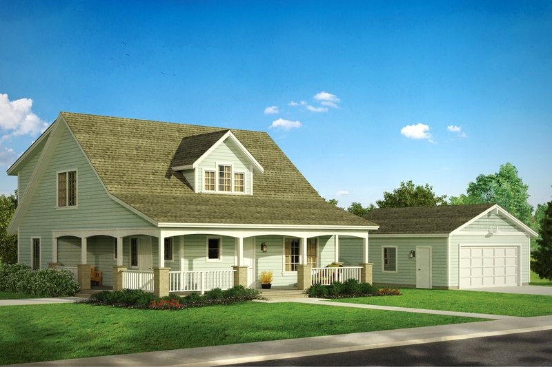 Craftsman Exterior - Front Elevation Plan #124-803 - Houseplans.com