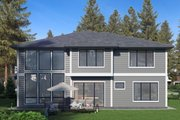 Contemporary Style House Plan - 5 Beds 5 Baths 4310 Sq/Ft Plan #1066-69 Exterior - Rear Elevation