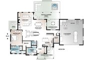 Farmhouse Style House Plan - 4 Beds 3.5 Baths 3532 Sq/Ft Plan #23-2687 Floor Plan - Main Floor Plan