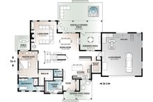 Farmhouse Floor Plan - Main Floor Plan Plan #23-2687