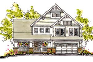 Craftsman Exterior - Front Elevation Plan #20-249