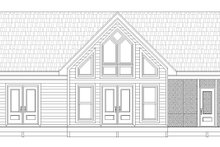 House Plan Design - Country Exterior - Rear Elevation Plan #932-35