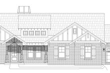Southern Exterior - Front Elevation Plan #932-80