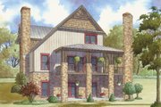 Cabin Style House Plan - 3 Beds 4.5 Baths 3307 Sq/Ft Plan #923-25 Exterior - Rear Elevation