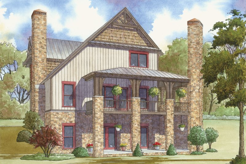 Cabin Exterior - Rear Elevation Plan #923-25 - Houseplans.com