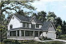 Farmhouse Exterior - Front Elevation Plan #48-205