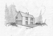 Modern Exterior - Front Elevation Plan #552-3