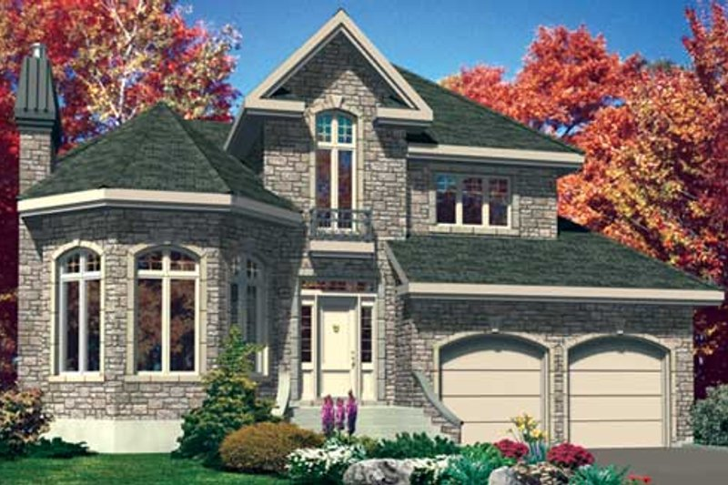 European Style House Plan - 3 Beds 1.5 Baths 2118 Sq/Ft Plan #138-279 Exterior - Front Elevation