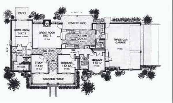 Farmhouse Floor Plan - Main Floor Plan #310-784