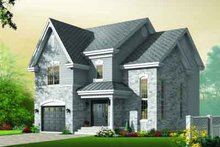European Exterior - Front Elevation Plan #23-582