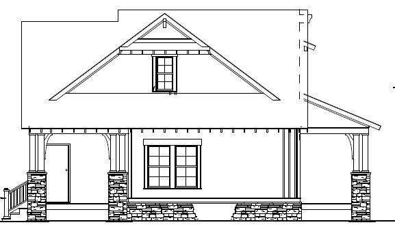 Craftsman Exterior - Rear Elevation Plan #17-2450 - Houseplans.com
