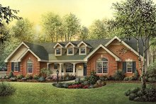 Country Exterior - Front Elevation Plan #57-351