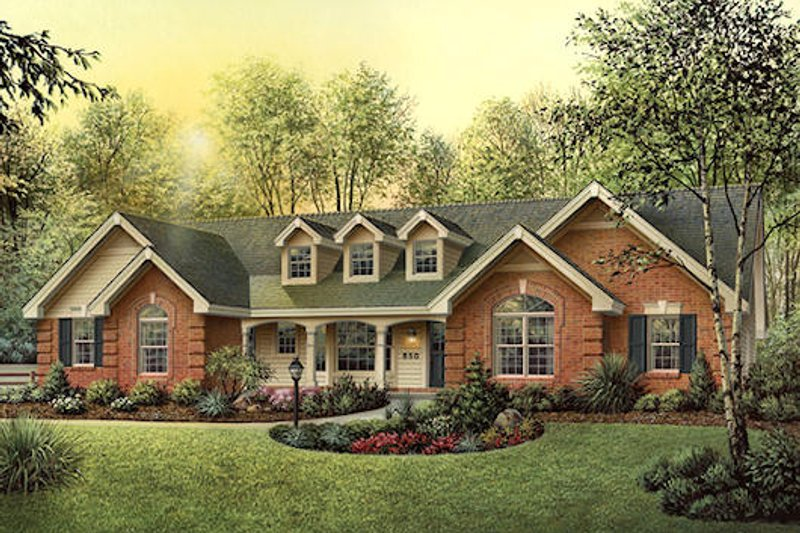 Home Plan - Country Exterior - Front Elevation Plan #57-351