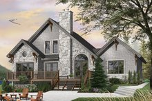 House Plan Design - Craftsman Exterior - Rear Elevation Plan #23-2485
