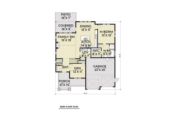 Home Plan - Craftsman Floor Plan - Main Floor Plan #1070-48