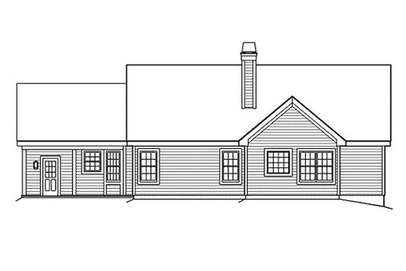 Traditional Exterior - Rear Elevation Plan #57-362 - Houseplans.com