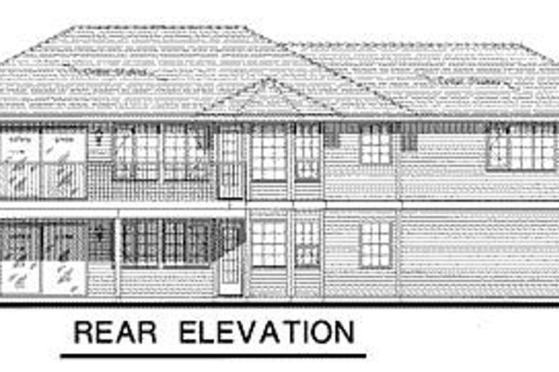 Ranch Exterior - Rear Elevation Plan #18-123 - Houseplans.com
