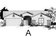 Adobe / Southwestern Style House Plan - 4 Beds 2 Baths 1500 Sq/Ft Plan #24-211