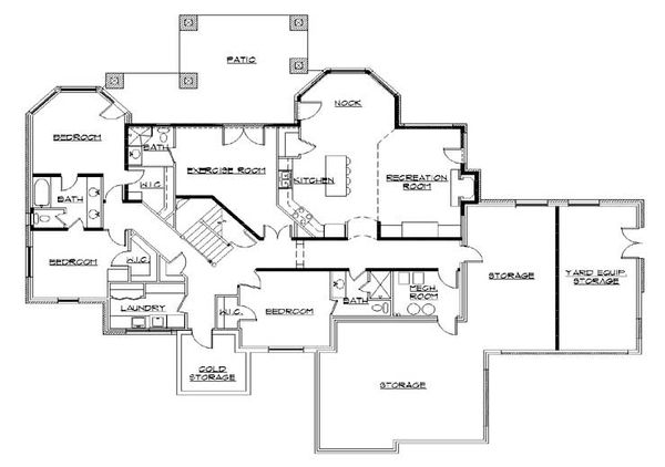 Home Plan - European Floor Plan - Lower Floor Plan #5-399