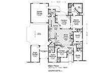 European Floor Plan - Main Floor Plan Plan #310-1302