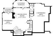European Style House Plan - 4 Beds 5.5 Baths 5381 Sq/Ft Plan #453-15 Floor Plan - Lower Floor Plan