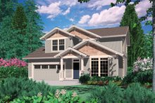 Craftsman Exterior - Front Elevation Plan #48-520